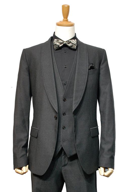 DOLCE & GABBANA (ドルチェ&ガッパーナ) スーツ size50 CHARCOAL GRAY トータルコーディネートA
