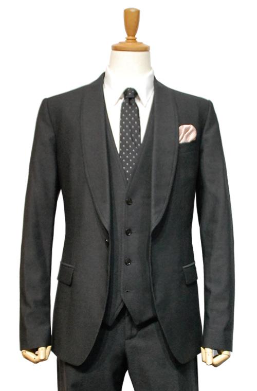 DOLCE & GABBANA (ドルチェ&ガッパーナ) スーツ size50 CHARCOAL GRAY トータルコーディネートB