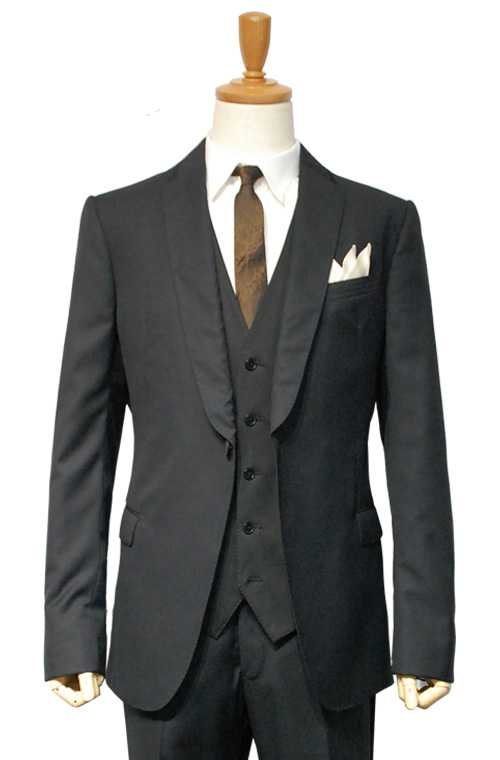 ARMANI COLLEZIONI (アルマーニコレツィオーニ) スーツ size50 BLACK トータルコーディネートA