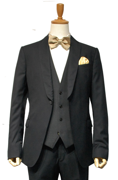 ARMANI COLLEZIONI (アルマーニコレツィオーニ) スーツ size50 BLACK トータルコーディネートB