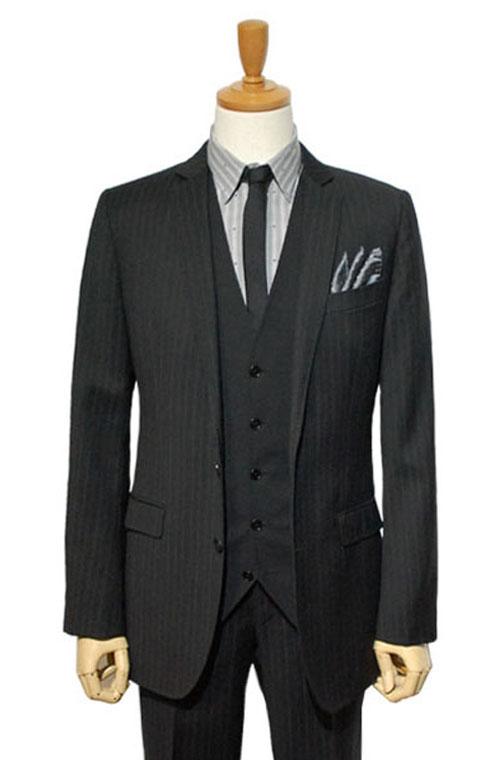 DOLCE & GABBANA (ドルチェ&ガッパーナ) スーツ size44 BLACK トータルコーディネートC