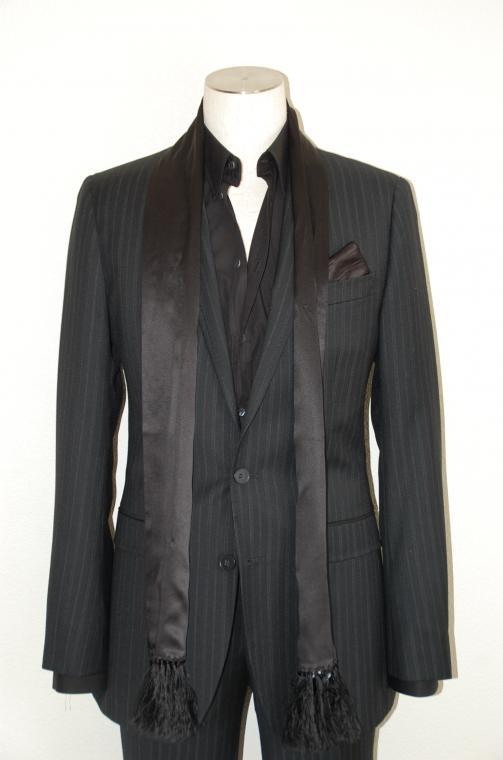DOLCE & GABBANA (ドルチェ&ガッパーナ) スーツ size44 BLACK トータルコーディネート B